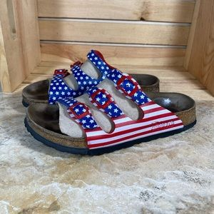 American Flag 🇺🇸 Birkenstock's Slide Sandals